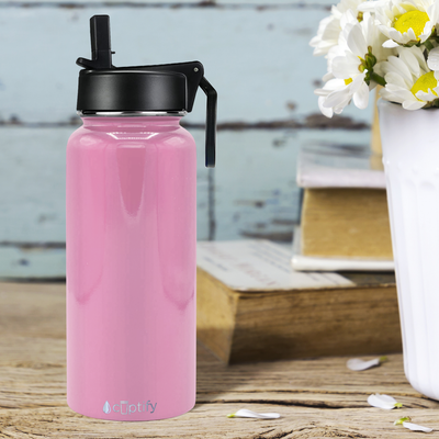 Cuptify 32 oz Stainless Steel Bottle - Pastel Pink