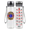 EMT Firefighter FD Badge on Black 32 oz Motivational Tracking Water Bottle
