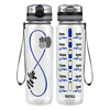 Police Wife Infinity on Black 32 oz Motivational Tracking Water Bottle