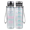 Life is Tough But So Are You 32 oz Motivational Tracking Water Bottle