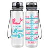 No Water, No Mermaid 32 oz Motivational Tracking Water Bottle