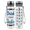 Drink Your Water Tribal 32 oz Motivational Tracking Water Bottle