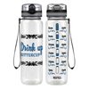 Tribal Buttercup 32 oz Motivational Tracking Water Bottle