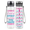 Sore Today, Strong Tomorrow Tribal Heart 32 oz Motivational Tracking Water Bottle