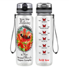 Because Miracles Butterfly 32 oz Motivational Tracking Water Bottle