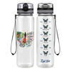 Mind and Soul Butterfly 32 oz Motivational Tracking Water Bottle