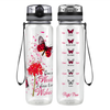 I Choose to See Wishes 32 oz Motivational Tracking Water Bottle