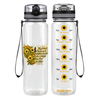 I Am The Storm Sunflower Butterfly 32 oz Motivational Tracking Water Bottle