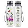 Butterfly Garden Let It Be 32 oz Motivational Tracking Water Bottle