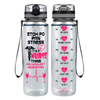 ETOH PO PRN Stress It's a Nurse Thing 32 oz Motivational Tracking Water Bottle