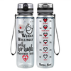 She Works Willingly with Her Hands 32 oz Motivational Nurse Water Bottle