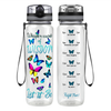Whisper Words of Wisdom 32 oz Motivational Tracking Water Bottle