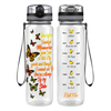 You Left Me Beautiful Memories 32 oz Motivational Tracking Water Bottle