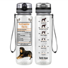 Rottweiler Facts 32 oz Motivational Tracking Water Bottle