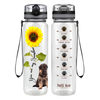 Shepherd Puppy You are my Sunshine 32 oz Motivational Tracking Water Bottle