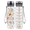 Live Love Teach 32 oz Motivational Tracking Water Bottle
