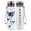 Personalized Beautiful Butterflies 32 oz Motivational Tracking Water Bottle