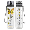 Personalized Choose Happiness Yellow Butterfly 32 oz Motivational Tracking Water Bottle
