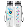Accept Understand Love Autism Sunflower 32 oz Motivational Tracking Water Bottle
