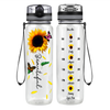 Beautiful Sunflower 32 oz Motivational Tracking Water Bottle