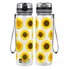 Sunflowers 32 oz Motivational Tracking Water Bottle
