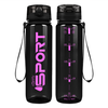 Cuptify Black with Pink 32 oz Sport Water Bottle