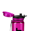 Cuptify Fuschia with Black 32 oz Sport Water Bottle