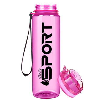 Cuptify Pink 32 oz Sport Water Bottle