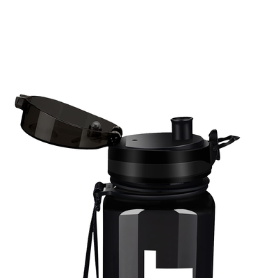 Cuptify Black with White 32 oz Sport Water Bottle