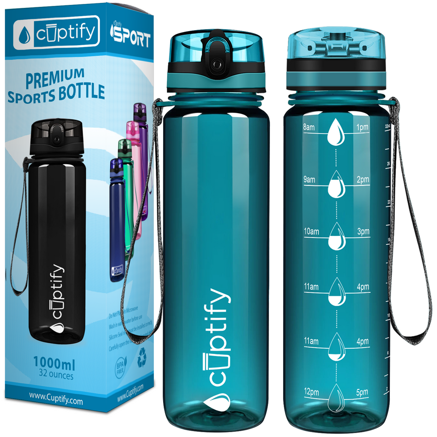 Cuptify Aqua 32 oz Water Bottle