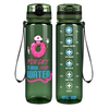Nurse Donut Forget to Drink Your Water on Army 32 oz Motivational Tracking Water Bottle