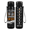 By the Pricking of my Thumb on Black 32 oz Motivational Tracking Water Bottle