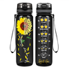You are my Sunshine Sunflower Bicycle Lover on Black 32 oz Motivational Tracking Water Bottle