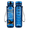 Rottweiler Facts on Blue 32 oz Motivational Tracking Water Bottle