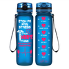 ETOH PO PRN Stress It's a Nurse Thing on Blue Frosted 32 oz Motivational Tracking Water Bottle