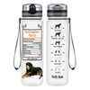 Rottweiler Facts on Clear Frosted 32 oz Motivational Tracking Water Bottle