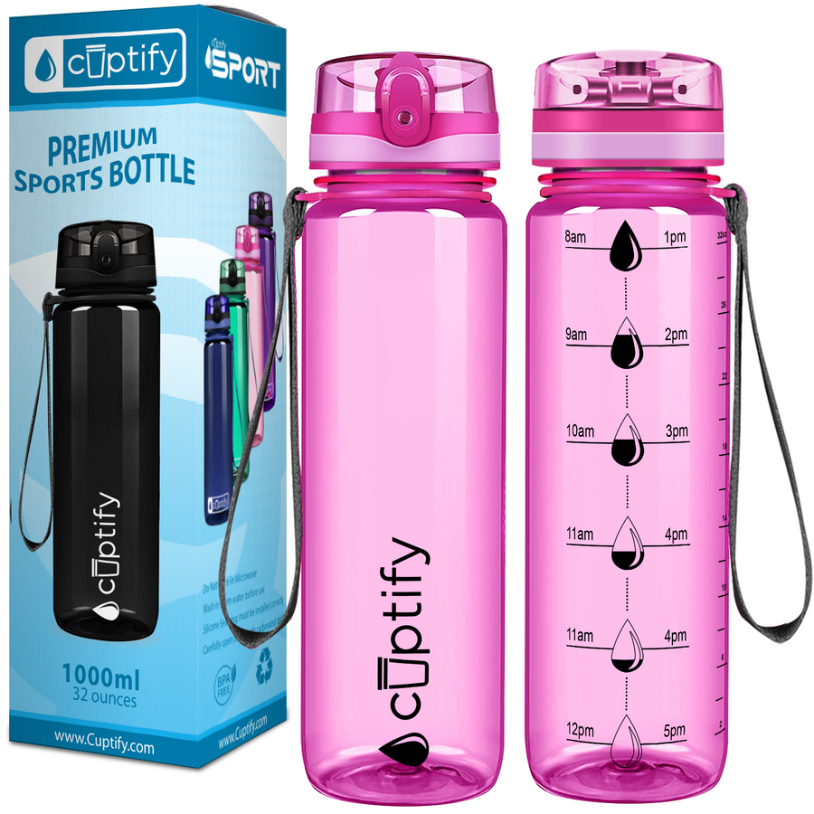 Pink 32 oz Water Bottle