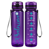 Curled Personalized Nurse Stethoscope on Purple 32 oz Motivational Tracking Water Bottle