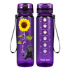 Labrador Puppy You are my SunShine on Purple 32 oz Motivational Tracking Water Bottle