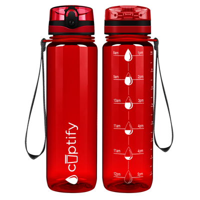 Cuptify Red 32 oz Water Bottle