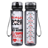Nurse Water Bottle 2020 The One's Where They Became Super Heroes on Smoke 32 oz Motivational Tracking Water Bottle