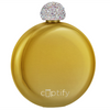 Cuptify 5 oz Liquor Flask with Rhinestone Crystal Lid - Gold Candy