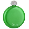 Cuptify 5 oz Liquor Flask with Rhinestone Crystal Lid - Lime Candy