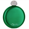 Cuptify 5 oz Liquor Flask with Rhinestone Crystal Lid - Money Candy