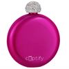 Cuptify 5 oz Liquor Flask with Rhinestone Crystal Lid - Pink Candy