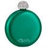 Cuptify 5 oz Liquor Flask with Rhinestone Crystal Lid - Tropical Candy
