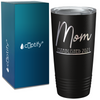 Mom Established 2021 on Black 20 oz Stainless Steel Ringneck Tumbler
