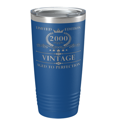 2000 Limited Edition Aged to Perfection 21st on Blue 20 oz Stainless Steel Ringneck Tumbler