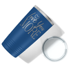 Love You More on Blue 20 oz Stainless Steel Ringneck Tumbler