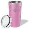 Auntie's Sippy Cup on Blush 20 oz Stainless Steel Ringneck Tumbler
